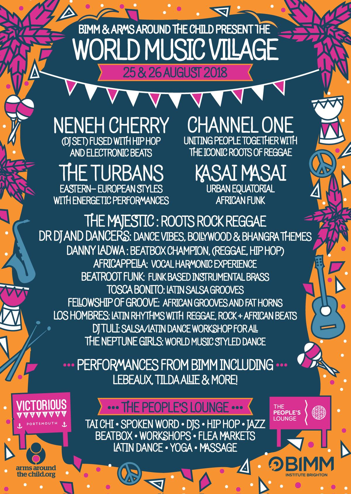 World Music Village 2018, Victorious, Southsea, Neneh Cherry